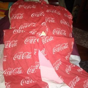 Coca-cola pj pants size L